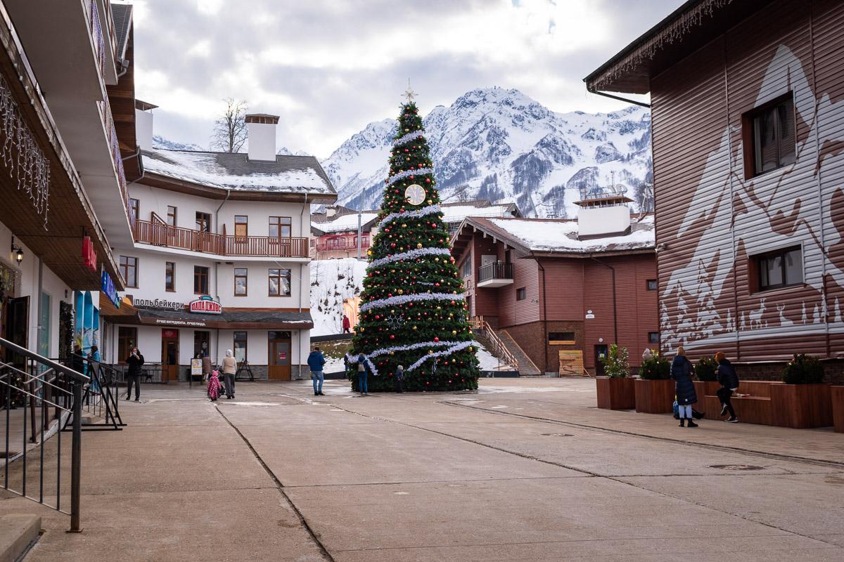 Горнолыжный курорт Роза Хутор: олимпийская деревня