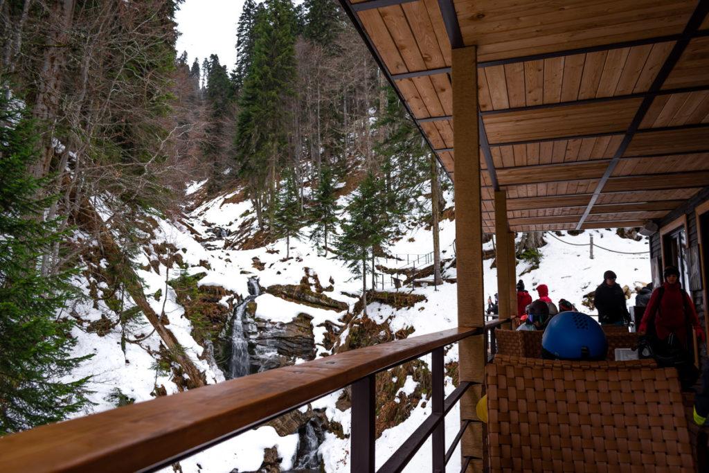 Горнолыжный курорт Роза Хутор: кафе Лес