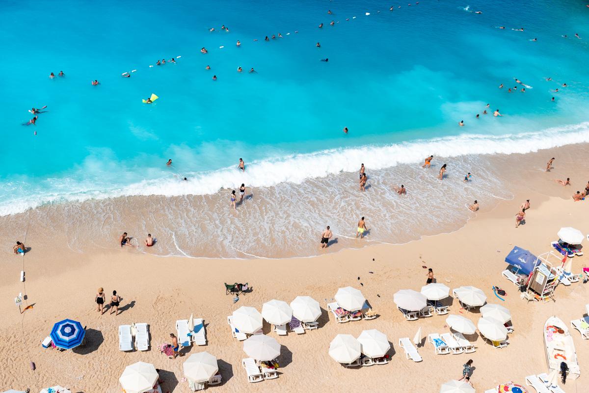 Каш, Турция: пляж Капуташ